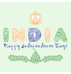 Concept for the day of India independence from the vector image vector image