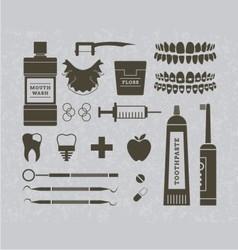 Dentist retro graphics vector