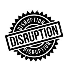 Disruption rubber stamp vector