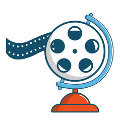 Film reel icon cartoon style vector