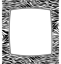 frame with zebra skin texture vector image vector image