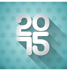 Happy New Year 2015 typographic design vector image vector image