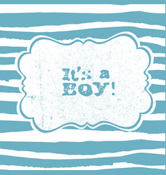 Its a boy lettering baby shower party design vector