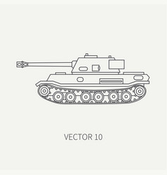 Line flat plain icon infantry assault army vector
