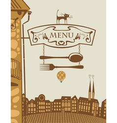 menu architecture vector image