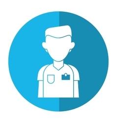 Nurse male suit surgeon hospital shadow vector