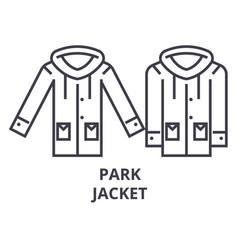 park jacket line icon outline sign linear symbol vector image