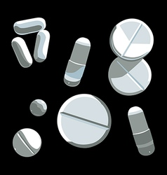 Pills set vector