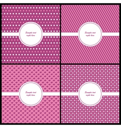 Pink and beige card template vector image vector image