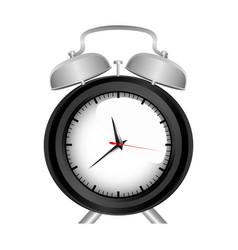 realistic graphic of black alarm clock vector image