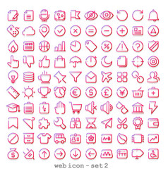 Red line web icon - set 2 vector