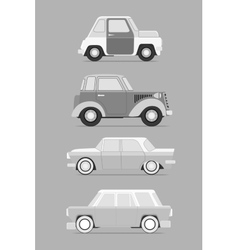 Retro cars set vector image vector image