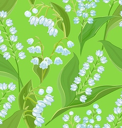 Seamless texture with small spring flowers lilies vector
