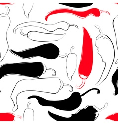 seamless wallpaper with chili pepper vector image vector image
