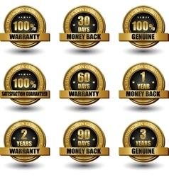 set of 100 percent satisfaction guaranteed vector image