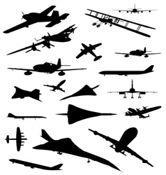 Vintage Plane Silhouette vector image vector image