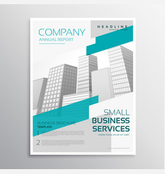 White brochure design in clean style with blue vector