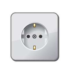 White Electric Outlet vector image