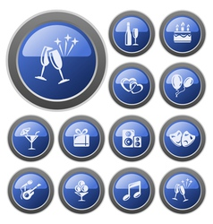 Party buttons vector