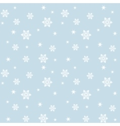 Pattern with snowflakes vector
