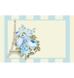 Eiffel tower card vector image