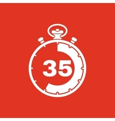 The 35 seconds minutes stopwatch icon Clock and vector image