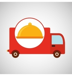 delivery truck food icon design vector image