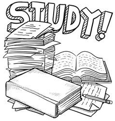 Doodle school study vector