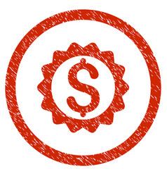 financial seal rounded grainy icon vector image