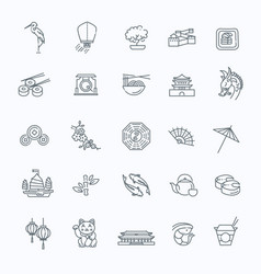 Japanese theme icon set vector