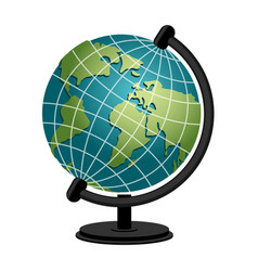 earth school geography globe model of planet vector image