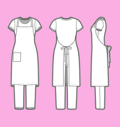 Womens clothing set vector