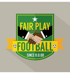 Fair play badge label vector