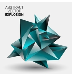 3d low polygon geometry background abstract vector