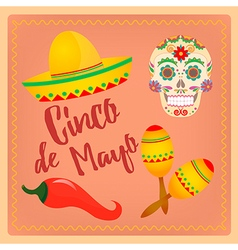 Cinco de mayo mexican festival vector
