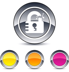 Unlock round button vector