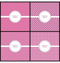 Pink and beige card template vector image