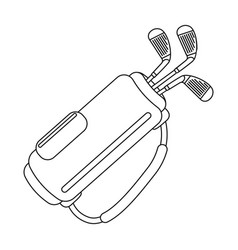 a bag with golf clubsgolf club single icon in vector image