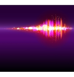 Abstract bokeh equalizer background vector image