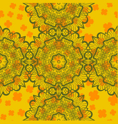 Abstract mandala seamless print vector