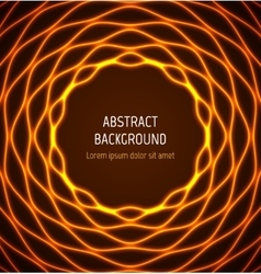 Abstract orange circle wavy border background with vector