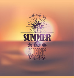 Banner for summer beach vacation vector