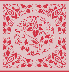 Baroque frame with flowers ornaments vector