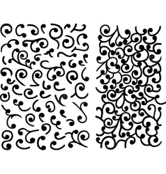 Black maze of curles vector