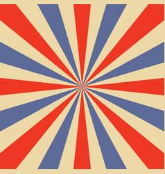 blue and orange sunburst pattern vector image vector image