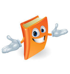 Book cartoon character mascot vector