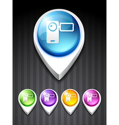 camera recorder icon vector image vector image