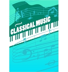 Classical music concept vector