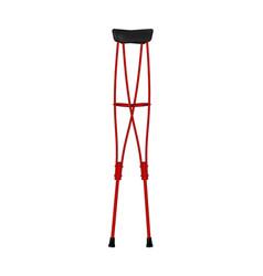 Crutches in retro design vector