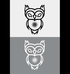 Cute owl tribal vector
